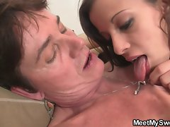GF have oral fun with her BF&,#039,s family