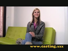 Casting - Very skinny teen takes a big one