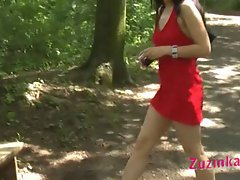 The red dressed girl at the park part 3