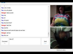 omegle 47 &amp, 48 (BBW shaking tits &amp, curious female cumshots)