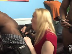 Annette Schwartz fucked and creampied by gang of black bulls
