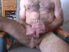 mature hairy jerking off