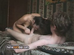 Amateur couple fucking in bedroom p1