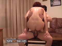 Sexy amateur red head mom and young boy p2