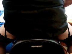 JORGINA - RIDING SYBIAN IN BLACK LINGERIE