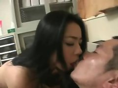 Hairy Asian Milfs Threesome Creampie