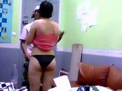 Indian with pretty black bikini panties-qp