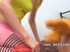 Three russian 19yo chicks playing