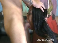 Slobbering and choking black teen interracial domination by white guys
