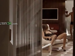 luxury brunette sexing at home