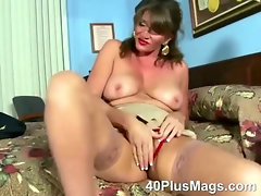 See this extreme hot mature brunette