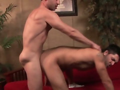 Str8 Greek stud fucks my muscular Latino boy in his first ever video and first time with a dude.