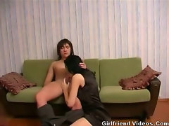 Couch Blowjob & Floor Fuck