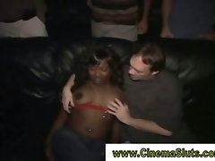 Black chick gets down and dirty