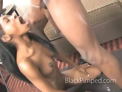 Black teen amateur used like meat by angry ebony pimp for extreme face fuck