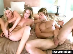 Three breath taking beauties in a hotel room fucking