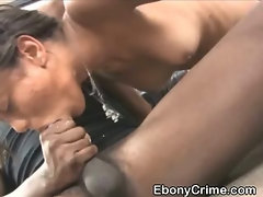Dirty Black Amateur Slut Choking On Ebony Cock