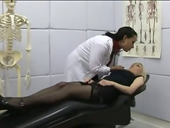 Doctor sluts get to work curing patient with a good amount of cock