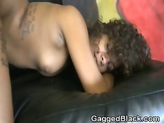 White Guy Very Roughly Pounded Black Ghetto Slut