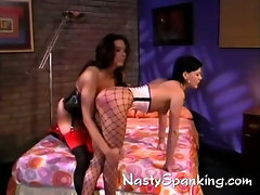 real exciting lesbian spanking scene