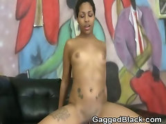 Wild Black Ghetto Slut Riding On A White Dick