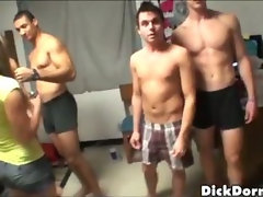 Straight college guys masturbating