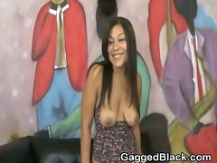 Dirty Black Ghetto Slut Fucked By White Guy In The Throat