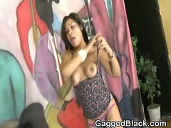 Dirty Black Ghetto Whore Gets Very Rough Face Fucking