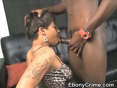 Black Amateur Ghetto Slut Getting Her Throat Punished