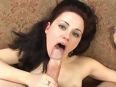 Sindee Jennings opens her mouth wide for the jizz train to cum through