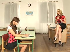 Teacher Kathia Nobili gives a lesson in threesomes