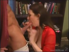 Tempting babe Rayveness slavers over this hard prick