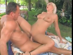 Nikki Hunter takes this hard dick deep in her wet pussy