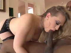Kagney Karter enjoys a huge black cock shaft