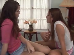 Lesbians Elexis Monroe and Faith Leon play with each other's pussy