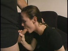 Amateur cock whore loves taking the dick deep down her throat