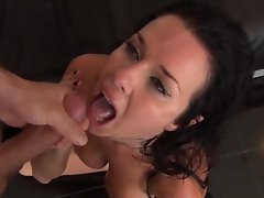 Brandy Aniston swallows down a gobful of goo