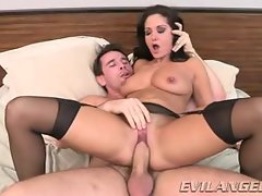 Ava Addams takes this hard dick deep in her moist slot