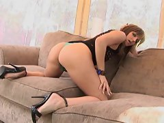 Lexi Love shoves a meat rod down her throat until she chokes on it