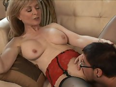 Used up old hag Nina Hartley loves when she feels naughty thanks to cock