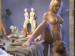 Sammie Rhodes and Jana Cova take part in some hot pussy dripping lezzie action