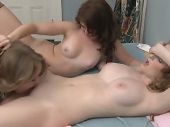 Faye Reagen & Ashlyn Rae have a hot and nasty threesome with a lucky guy