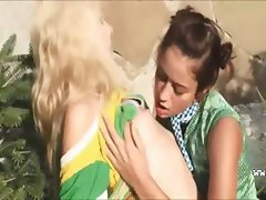 Outdoor russian lesbian hole fingering
