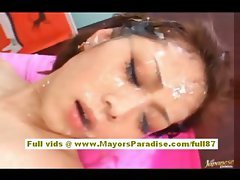 Miho Maeshima aot asian model cumshots on her face