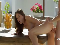 cute art oral sex on the table