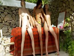 Three estonian chicks fingering snatches