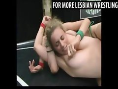 Naked girls fight for the strapon