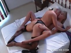 Sensual lesbo scene with feet licking