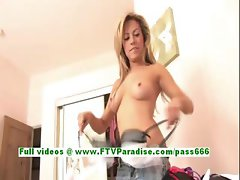 Jodie superb blonde girl getting naked and posing