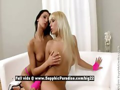 Adrianna and Destiny lesbo teen girls have lesbo kissing and undressing